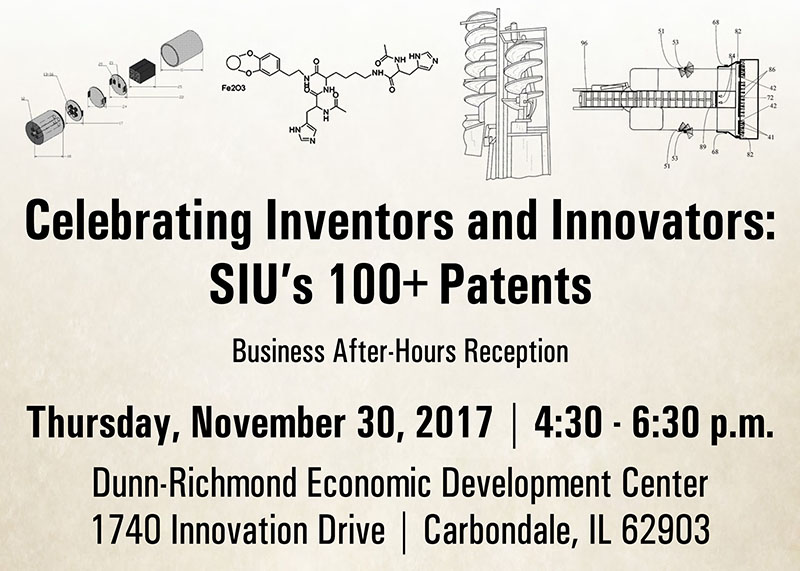 Celebrating Inventors and Innovators, SIU's 100+ Patents, Nov. 30