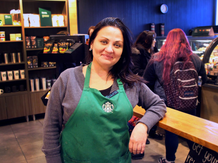 Leading the pack: After 12 years at Starbucks, Sara Wright probably knows your name and your favorite drink