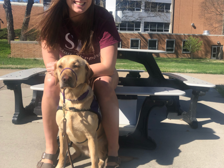 Students work with Saluki Service Dogs to raise awareness and give back