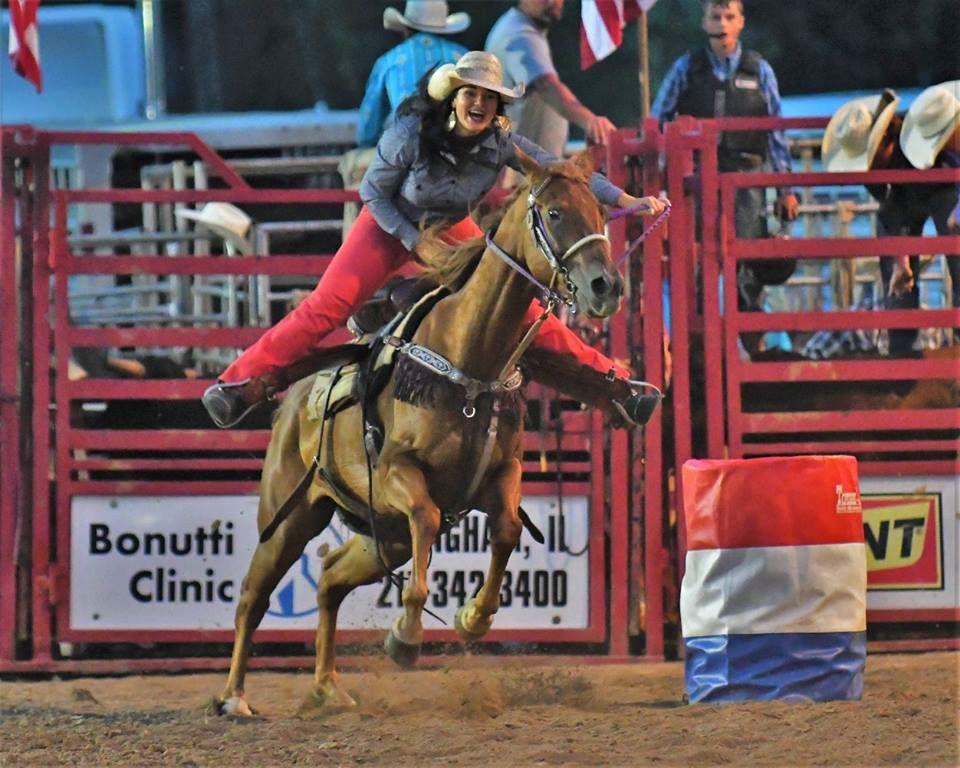 Kaitlin riding horse.