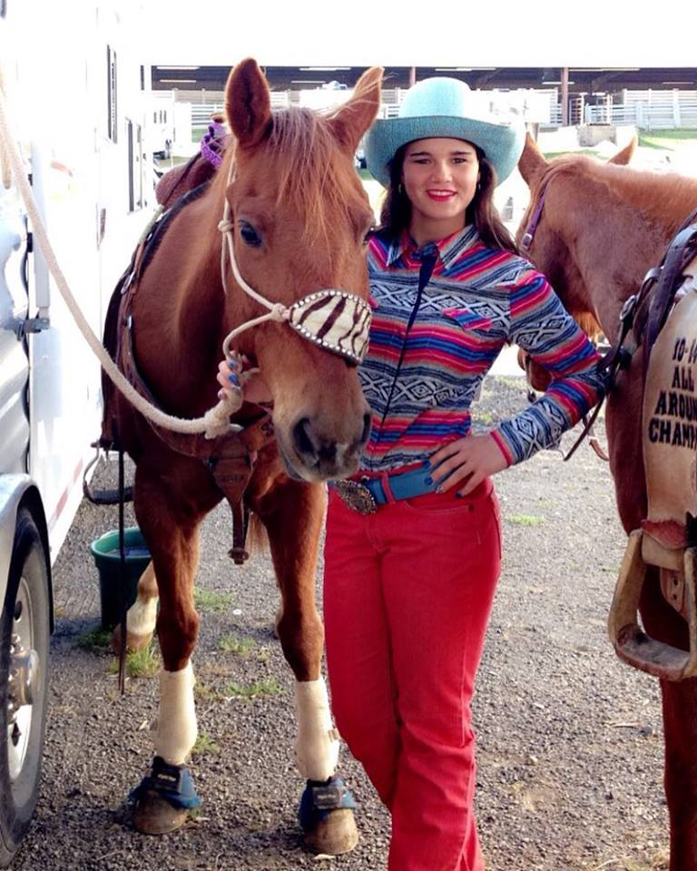 Kaitlin with horses.