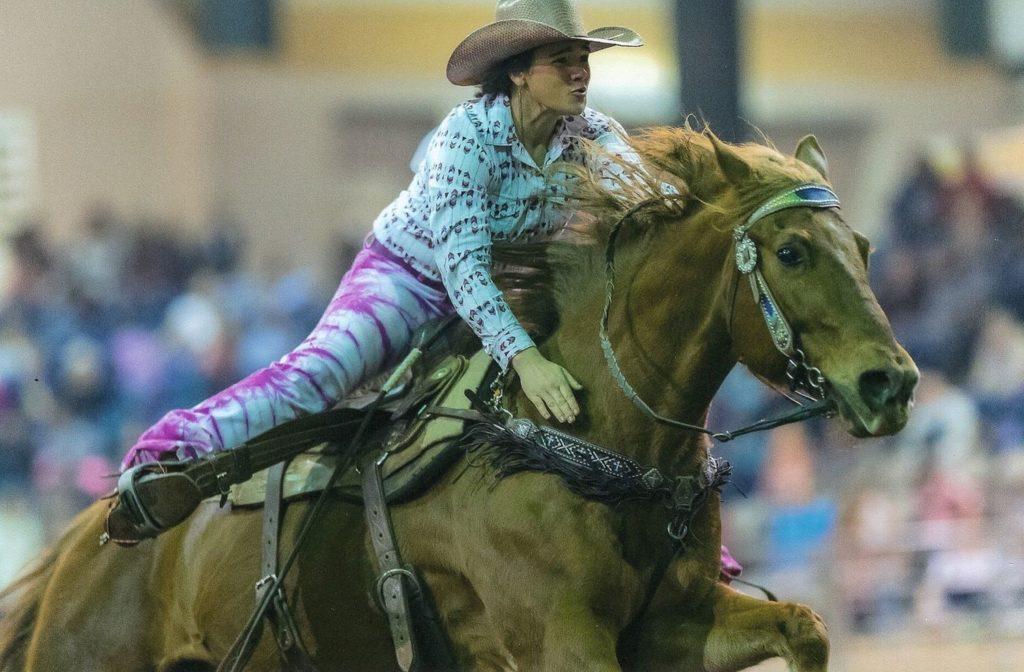 Kaitlin riding.