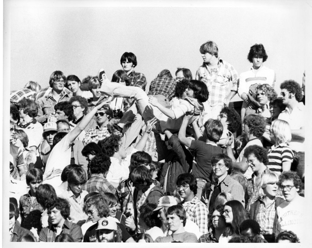 Picture of crowd surfing in 1978.