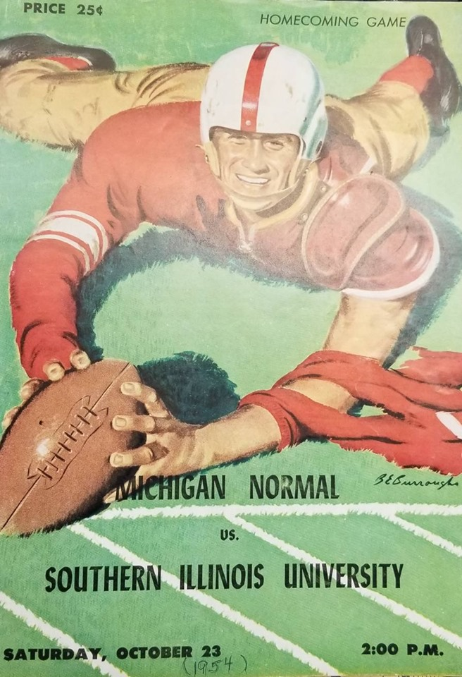 The cover of the program from the 1954 Homecoming game.