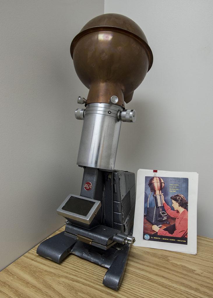 1950s-era electron microscope.