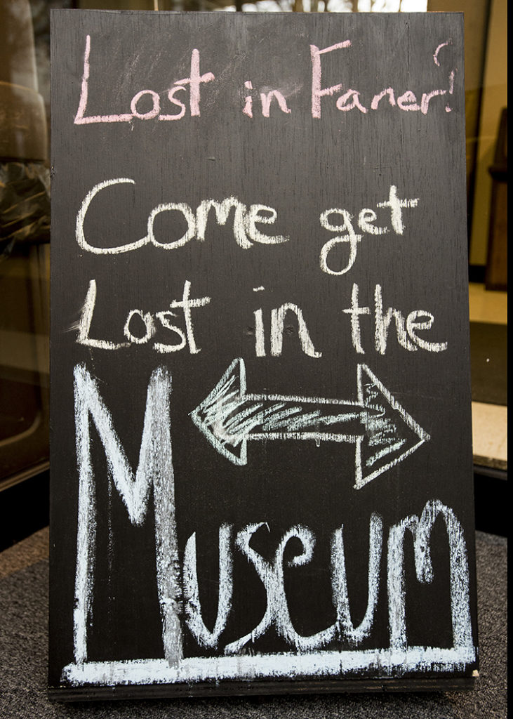 SIU Museum - Lost in Faner sign