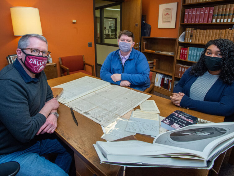 SIU students, faculty research area's history of race and law