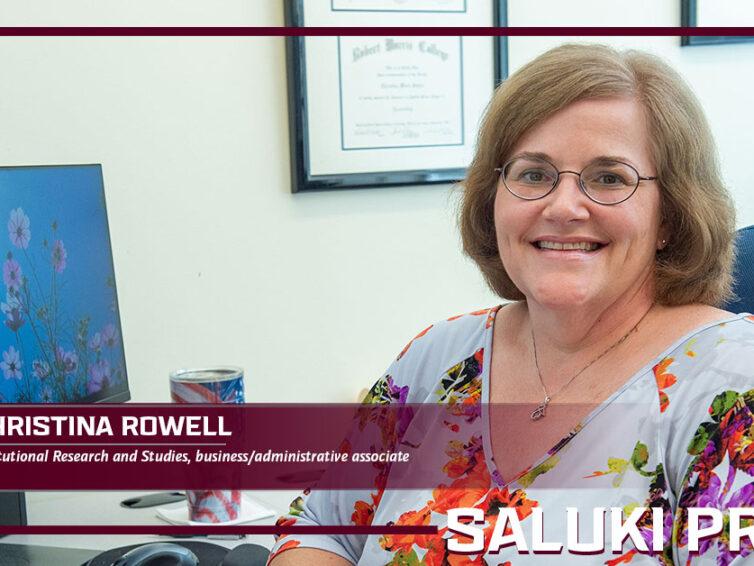 Saluki Pride: Christina Rowell transforms data into understandable reports