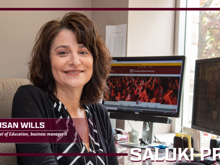 Saluki Pride: Susan Wills is a skilled business manager for the School of Education