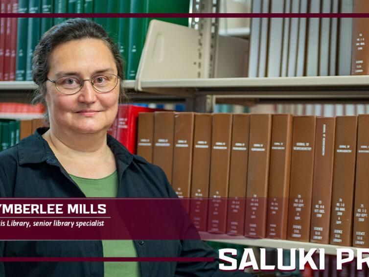 Saluki Pride: Kymberlee Mills helps ease library's database transition